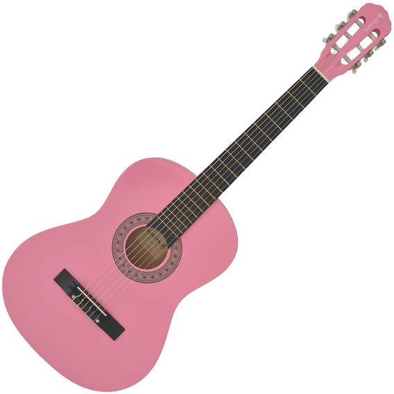 Violão Acústico Rosa Auburn Aubvo616 6 Cordas De Nylon