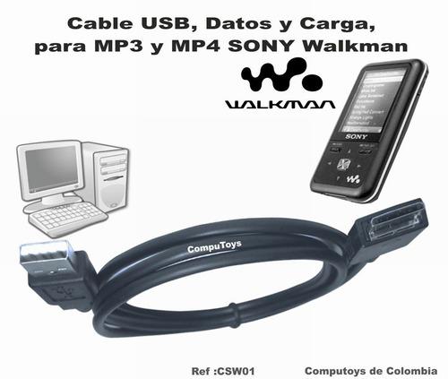 Imagen 1 de 6 de Zcsw01 Mp3-mp4 Sony Walkman Cable Usb, Datos Computoys