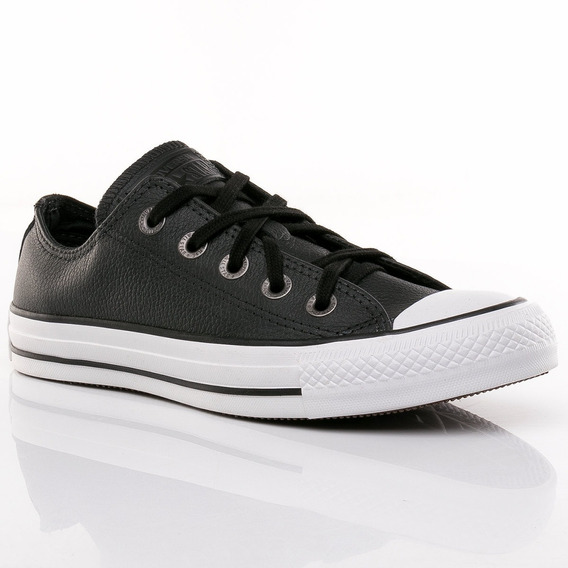 all star converse negras cuero