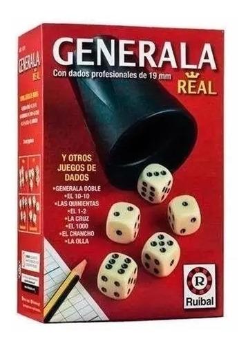 Imagen 1 de 5 de Generala Real Ruibal H210 Dados Clasicos Con Cubilete Edu