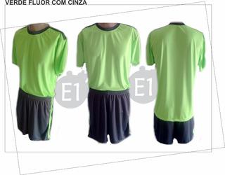 Jogo Camisas E Calção Uniforme De Futebol - Kit Com 5 Peças