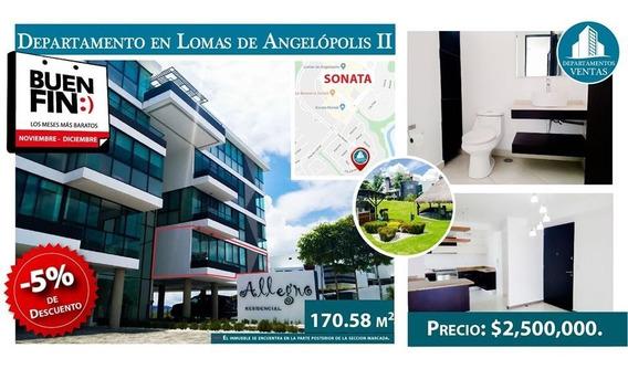Departamento 3 Recamaras - Lomas De Angelópolis Ii Veneto