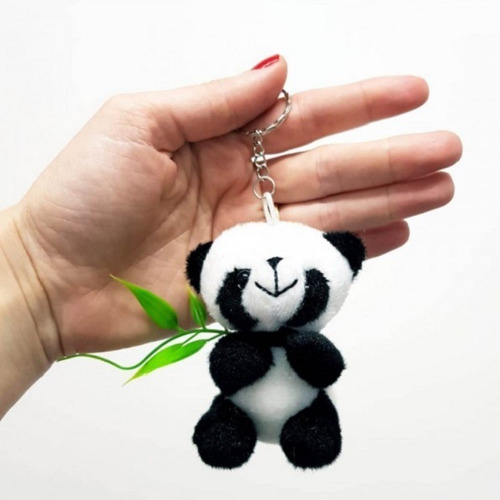 Imagem 1 de 3 de 10 Mini Chaveiro Urso Panda 8cm P/  Lembranças Lembrancinhas