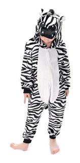 Pijama Cebra Kigurumi Entero De Animales Talla 4 A 12 Años