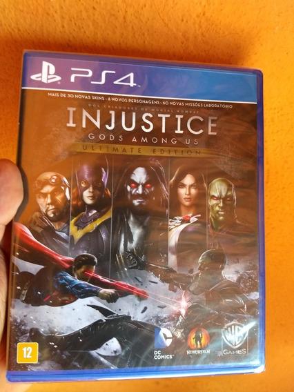 Injustice Gods Amongus Ps4 Novo Lacrado Mídia Física