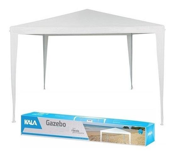 Tenda Praia Gazebo Branca - Barraca Camping C/sacola 3x3