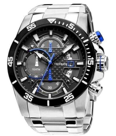 Relógio Masculino Technos Cronografo Azul Ou Vermelho Os10er