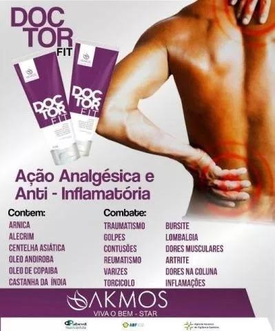 Doctor Fit Akmos ( Doutorzinho ) 150g Alívio Imediato
