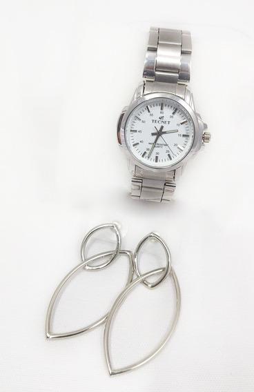 Relógio Feminino Aço Caixa Pequeno Excelente A Prova D´água
