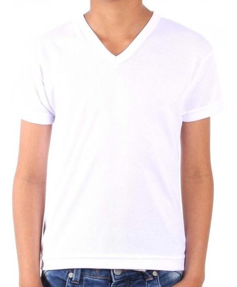 Camiseta En Poliester 100% Para Sublimación Cuello V