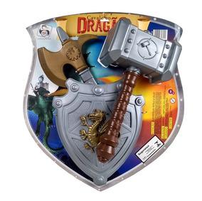 Brinquedo Menino Cavaleiro Medieval 3 Peças Fg
