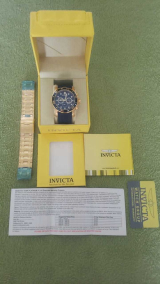 Relógio Invicta Pro Diver Fundo Azul Com 2 Pulseiras