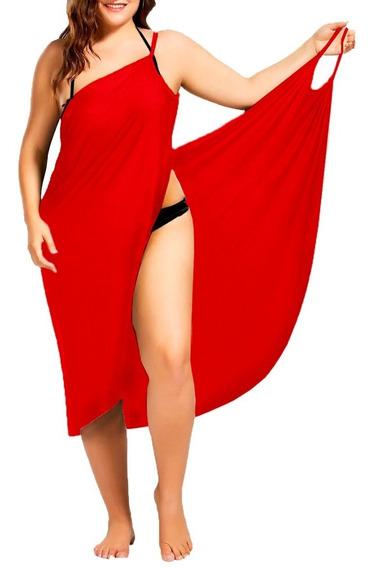 4xl 5xl Vestido Envolvente Playero Licra Dryfit Pareo Playa