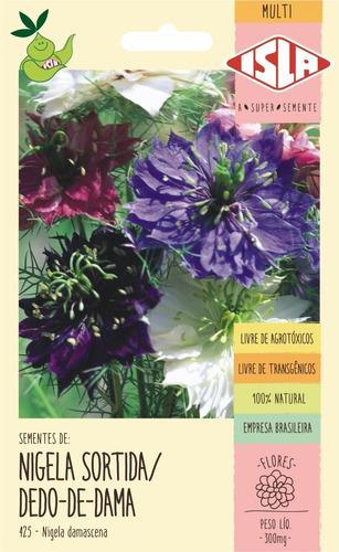 Sementes De Nigela Sortida/dedo-de-dama Flor