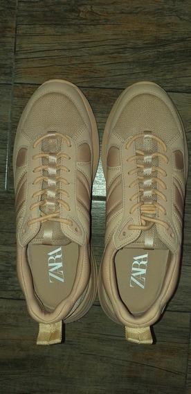 Zapatillas Zara N# 42 Mujer Sin Uso