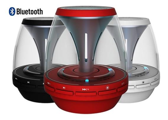 Caixa De Som Bluetooth Com Led Colorida Nsb-02 Mp3 Usb Rádio