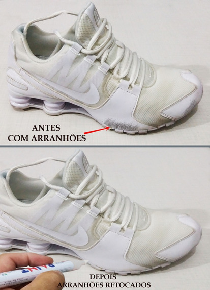 Caneta Branca Para Retoque Em Riscos De Tênis-sapatos-botas