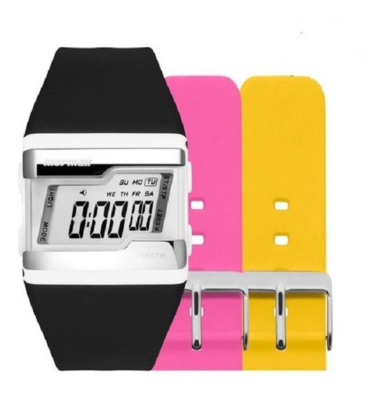 Kit Relógio Mormaii Unissex Troca Pulseiras Fz/t8t Digital