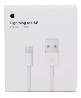 Cable Usb Lightning iPhone 1 Mt Datos Calidad Premium