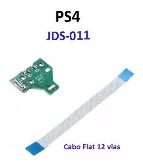 Palas Usb Jds011 + Cabo Flat 12 Vias Controle Ps4