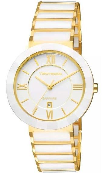 Relógio Technos Feminino Sapphire Original Nota 2015ce/4b