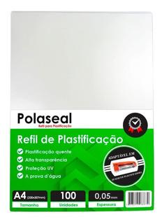Polaseal A4 Plástico Para Plastificação 220x307x0,05mm 100un