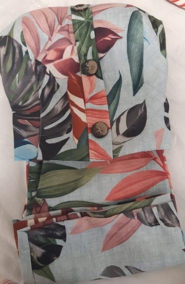 Conjunto Estampado Floral Em Viscolinho C/ Bojo Verão 2020