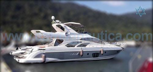 Lancha Intermarine 600 Barco Iate N Ferretti Sunseeker Axtor