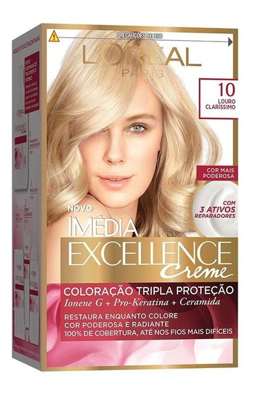 Coloração Imédia Excellence Creme - 10 Louro Clarissimo