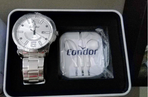 Relógio Condor Analógico + Brinde Fone