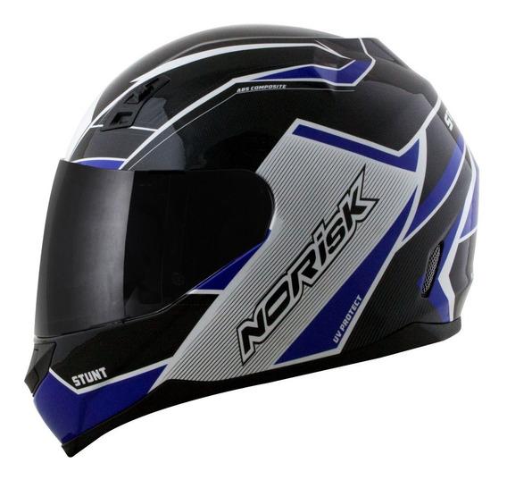Capacete Moto Norisk Fechado Ff391 Storm Azul/preto