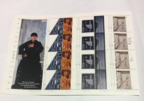 Imagen 1 de 3 de Louise Nevelson 20 Timbres Postales Usa 1999 Retromex V