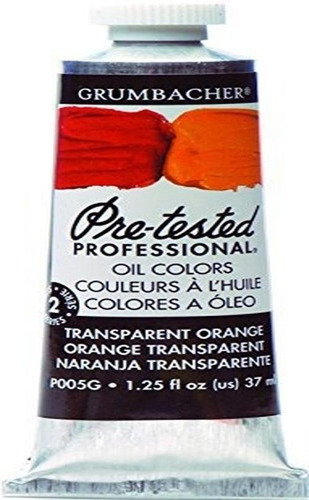 Pintura Al Oleo Pre-probada Grumbacher, 37ml / 1.25 Oz., Nar