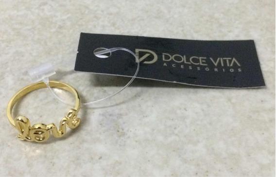 Anel Dolce Vita Love Aauoa253 - Novo - Original