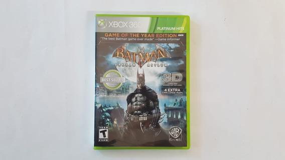 Jogo Batman Arkham Asylum Goty - Xbox 360 - Original