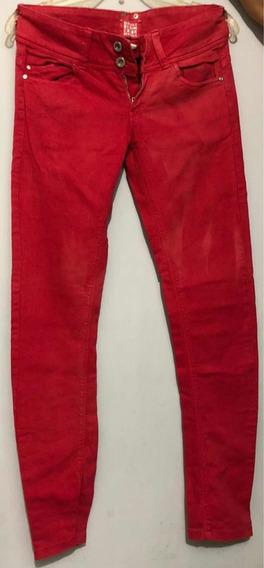 Ropa Bazar Pantalón Bershka Color Rojo 24 (chico)