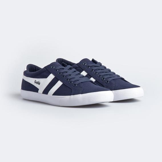 Zapatillas Gola Varsity Azul Marino - Blanco