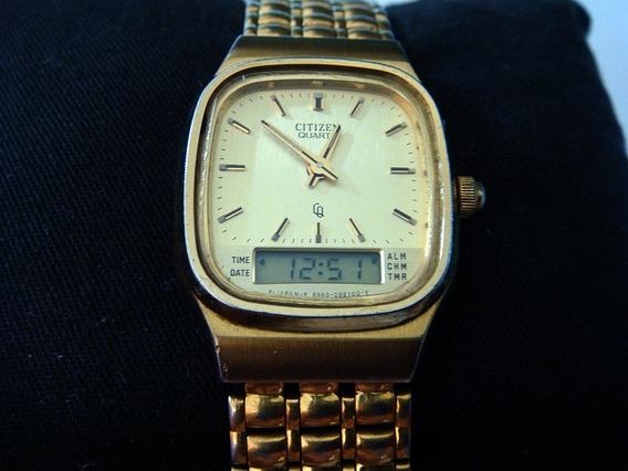 Bonito Reloj Citizen Ana-digi Quartz Vintage Colección 80s