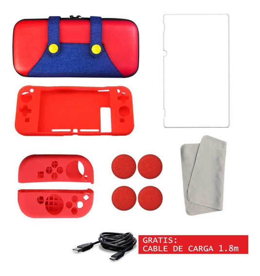 Funda Nintendo Switch Estuche Case Kit Accesorios + Cable
