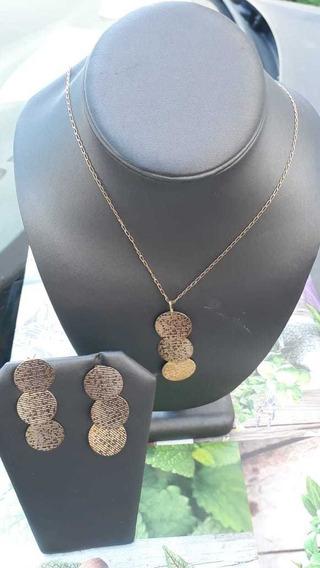 Collar De Oro Laminado Con Aretes