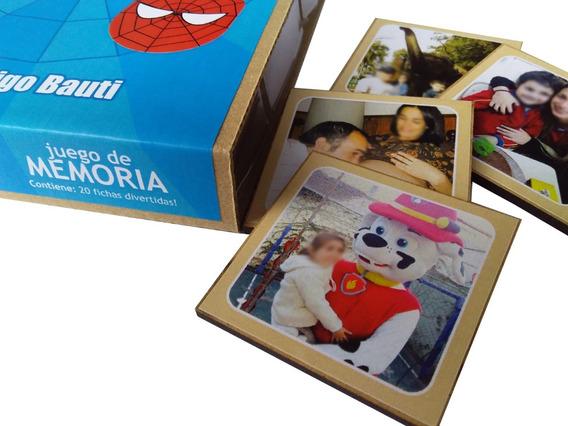 Memotest De Madera Personalizado Con Fotos Juego De Mesa