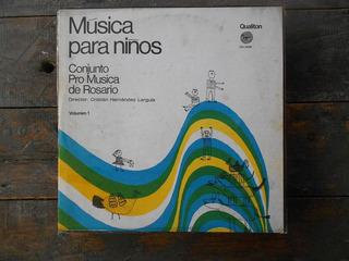 Pro Musica De Rosario Musica Para Niños 1 / Lp Vinilo Arg