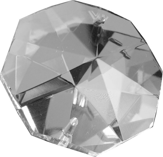 Lote De 1983 Octagonales 14mm De Cristal Cortado Para Candiles, Cortinas, Decoración, Boda, 15 Años, Bautizo O Eventos