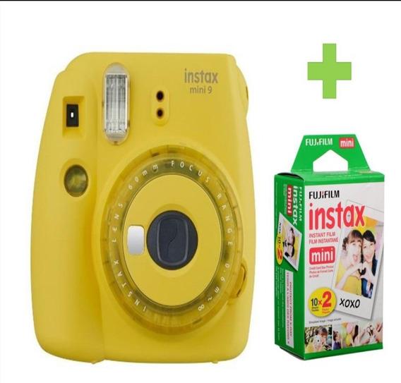 Cámara Instanx Mini 9 Amarilla + 20 Fotos Edición Limitada