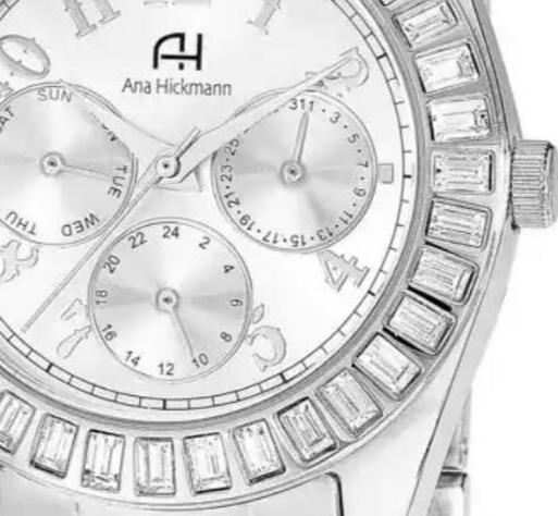 Relógio Ana Hickmann Feminino Ah30086q Analógico Multifuncão