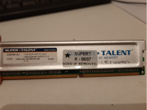 Memoria 1 Gb Ddr-400 Pc 3200 Super Talent  (ddr1)