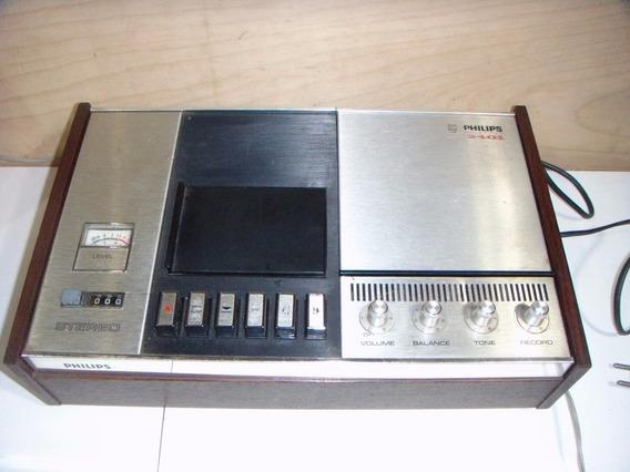 Gravador Philips N2401 Cassette Changer Funcionando