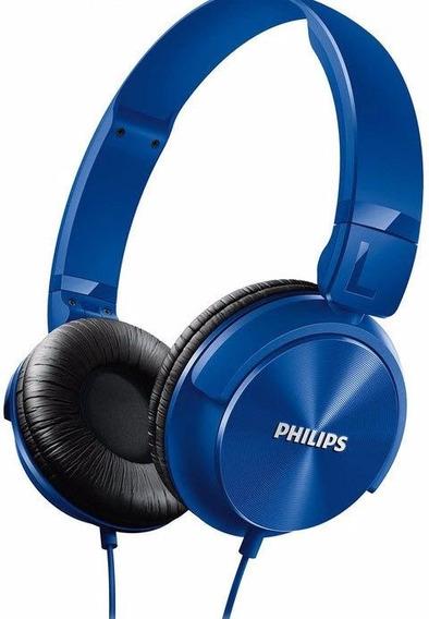 Fone Ouvido Headphone Philips Headband Dj Azul Shl3060 Bl/00