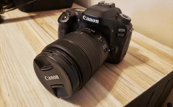 Canon 80d Lente 18-135mm Sd 32 Gb Carregador E Baterias