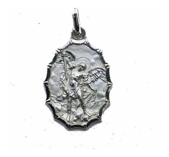 Medalla Plata 925 San Miguel Arcángel #145 Bautizó Comunión